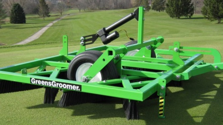 Greens Groomer in park position