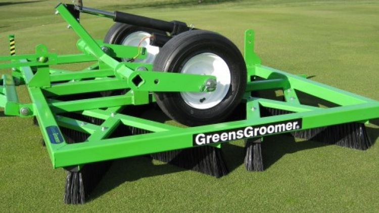 Greens Groomer on Golf Course
